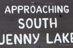 Jenny Lake Sign