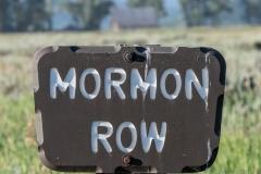 Mormon Row Sign