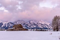 Winter Sunrise at Mormon Row