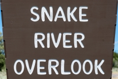 Snake River Overlook Sign