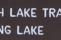 String Lake Sign